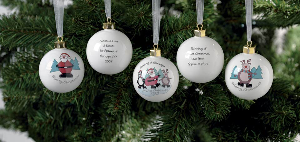 why to use personalised christmas baubles